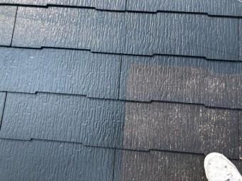 屋根の中塗りの様子