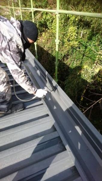 鹿児島市の折半屋根塗装工事