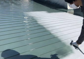 日置市 屋根塗装工事 の様子