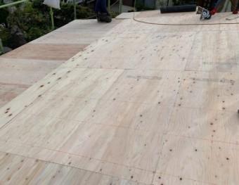 鹿児島市の葺き替え工事の様子