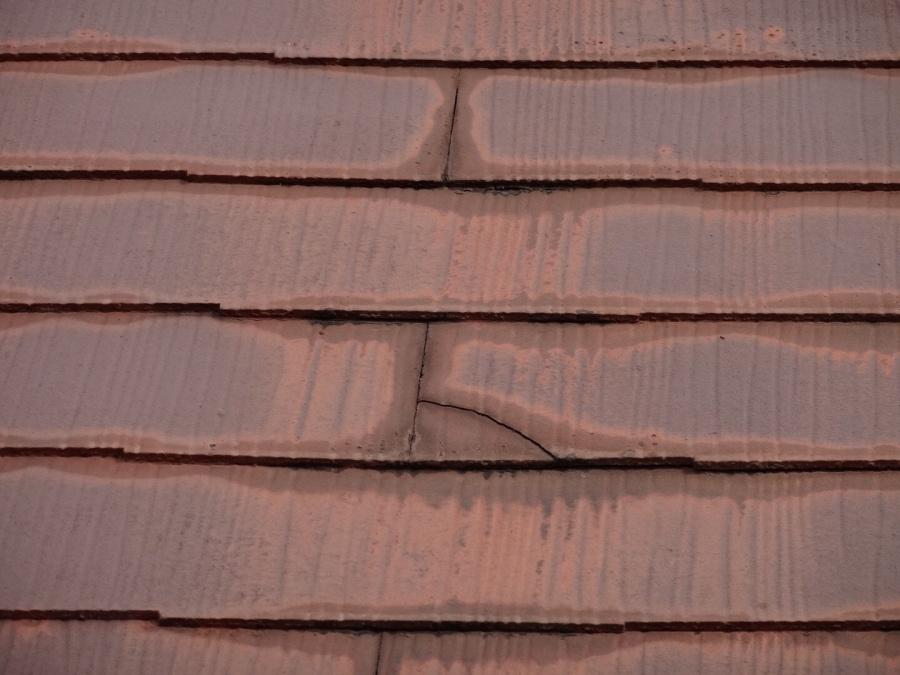 スレート屋根 クラック