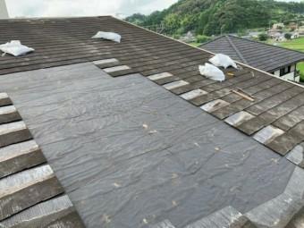 雨漏り補修工事スレート撤去