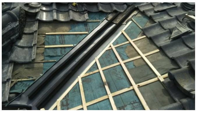 屋根の補修完了