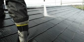 【鹿児島県鹿屋市】串良町にある縦長が特徴の住宅でコロニアル屋根の下塗りまでおこないました!高圧洗浄