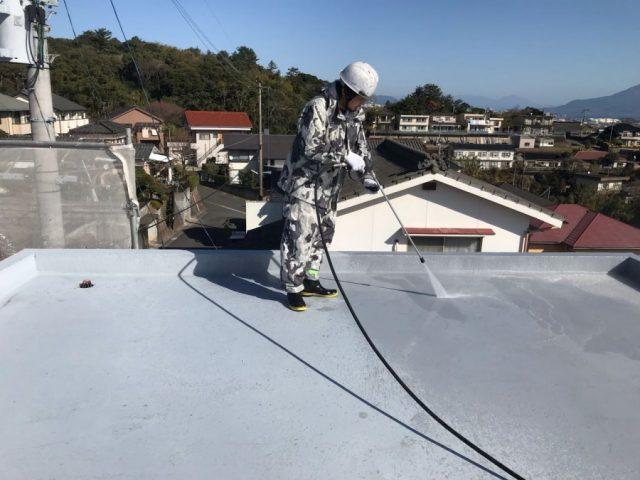 防水工事 高圧洗浄