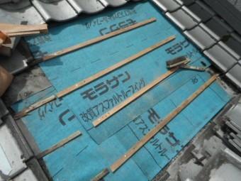 雨漏り補修工事 新しい防水シート