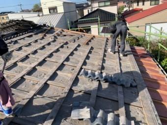 鹿児島市セキスイU瓦の葺き替え工事