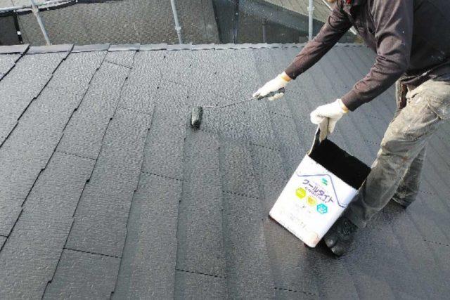 屋根上塗り 屋根塗装