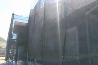 鹿児島市の仮設足場設置の様子