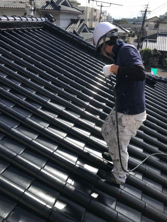 姶良市セメント瓦 屋根塗装
