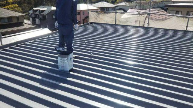 【鹿児島県】鉄板屋根の塗装をおこないます!屋根上塗り_1_確定