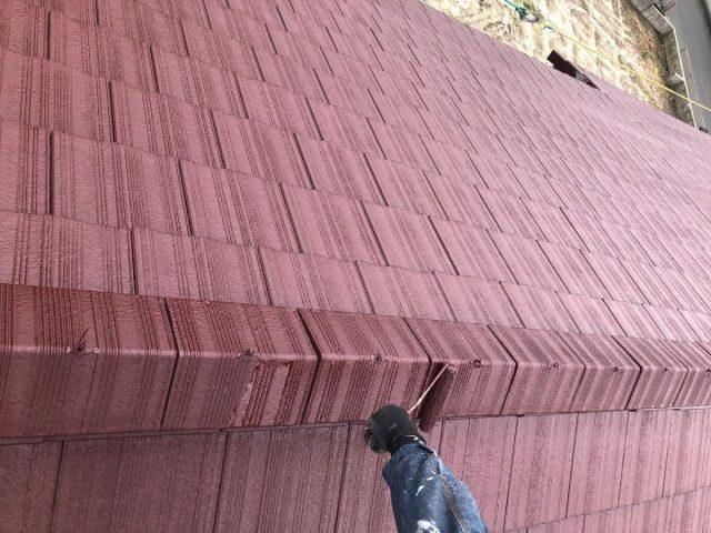 【鹿児島県肝属郡肝付町】前田にある瓦屋根の住宅で屋根塗装をします屋根上塗り_1_確定