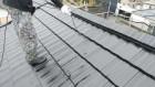 【鹿児島県】瓦屋根の住宅で屋根を黒色に塗装していきます屋根上塗り_1_確定