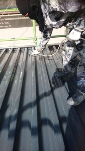 鹿児島市での折半屋根メンテナンス工事