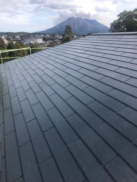 鹿児島市 屋根塗装工事 ブラック