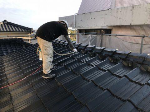 屋根上塗り 塗装工事