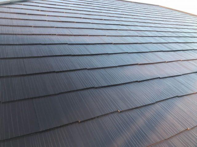 鹿児島市での屋根塗装 上塗り2回目