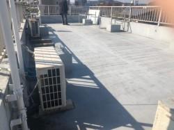 ビルの屋上ウレタン防水