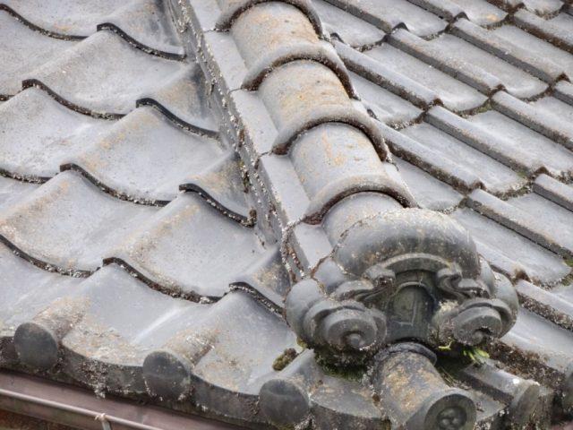 姶良市 セメント瓦の劣化