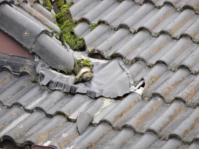鹿児島市の雨漏れした屋根の様子