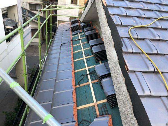 入母屋屋根 葺き替え工事