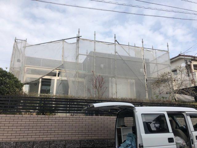 鹿児島市塗装工事 仮設足場
