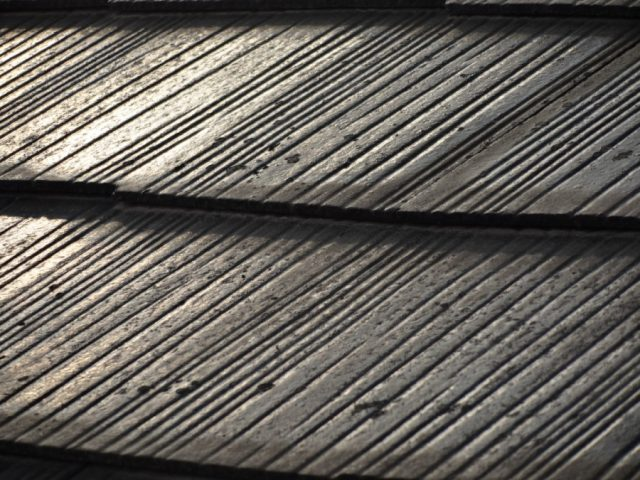 スレート屋根 塗膜の様子