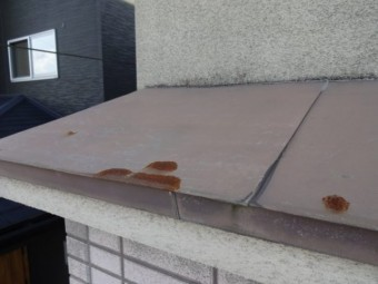 屋根の板金部分の錆