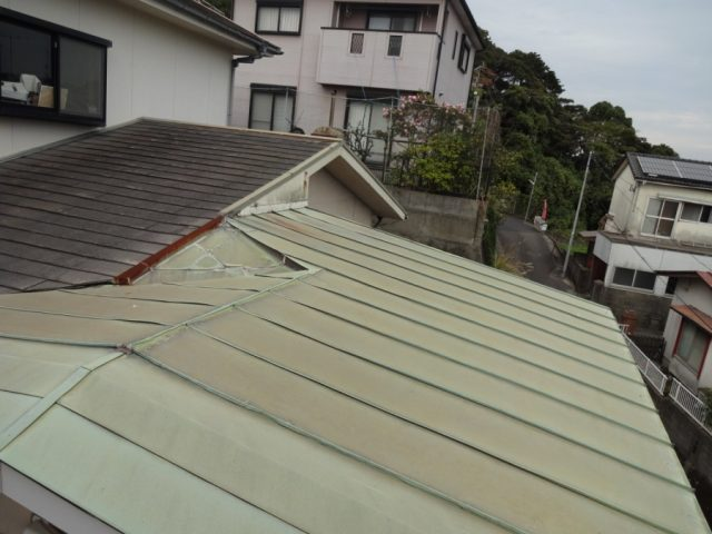 板金屋根部分の様子