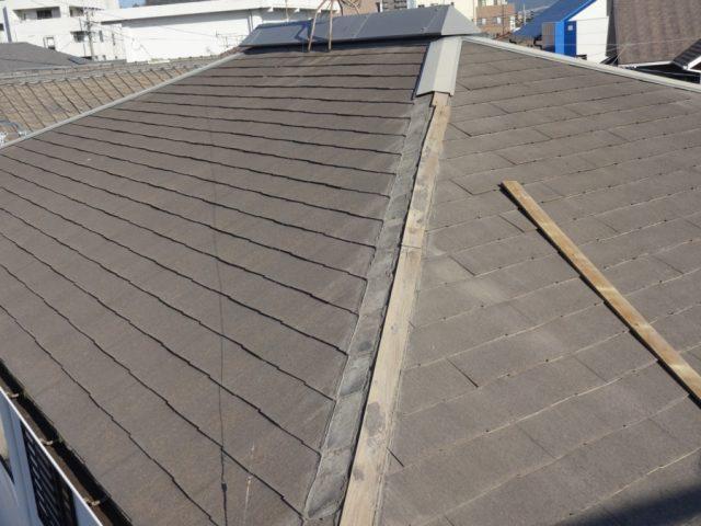 屋根の様子 棟板金のはずれ