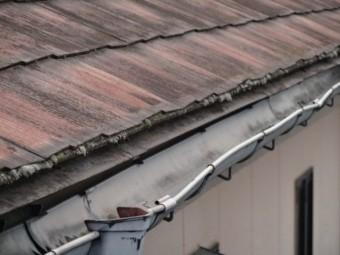 雨樋の蛇行の様子