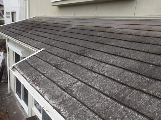 下屋根の劣化の様子