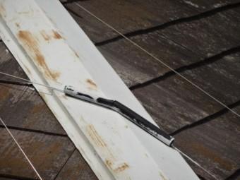 コロニアル屋根棟板金の劣化